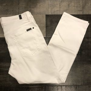 7 For All Mankind Paxtyn White Jeans 34x27